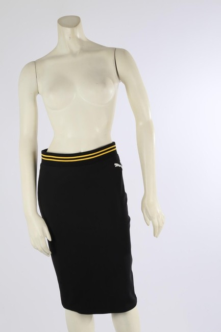 PUMA by Rihanna Casual Knee Lenght Pencil Skirt Black Image 3