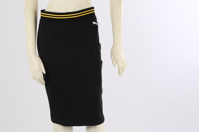PUMA by Rihanna Casual Knee Lenght Pencil Skirt Black Image 4