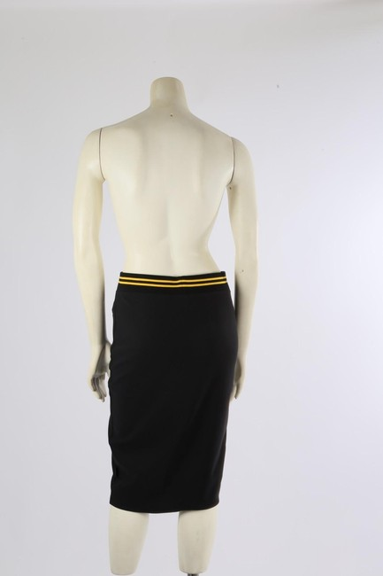 PUMA by Rihanna Casual Knee Lenght Pencil Skirt Black Image 6