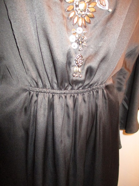 White House | Black Market Bat Sleeve Beaded Embroidered Night Out Onm001 Dress Image 11