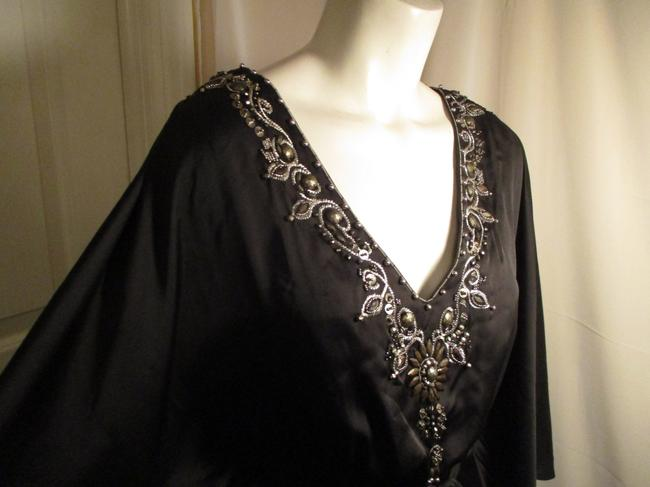 White House | Black Market Bat Sleeve Beaded Embroidered Night Out Onm001 Dress Image 3