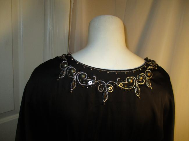 White House | Black Market Bat Sleeve Beaded Embroidered Night Out Onm001 Dress Image 5