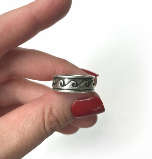Other Hawaiian Wave Ring Metal Tribal Boho Ocean Beach Jewelry Image 1