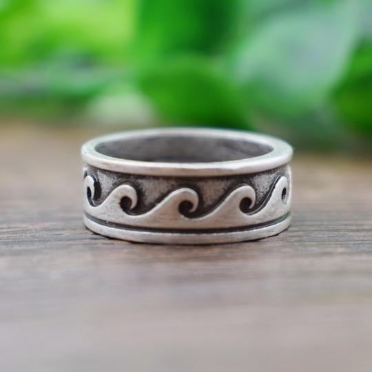Other Hawaiian Wave Ring Metal Tribal Boho Ocean Beach Jewelry Image 2