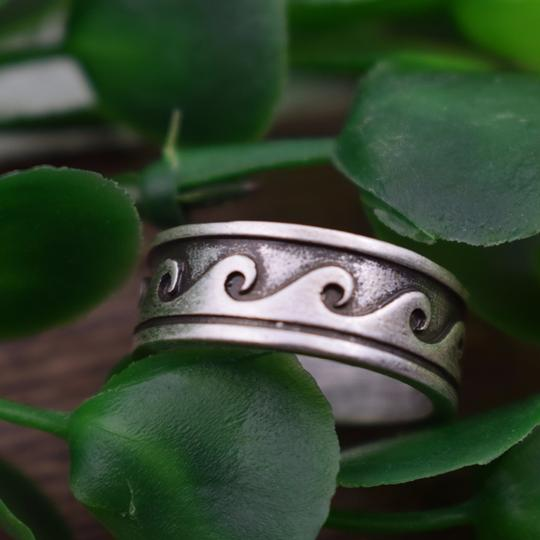 Other Hawaiian Wave Ring Metal Tribal Boho Ocean Beach Jewelry Image 4
