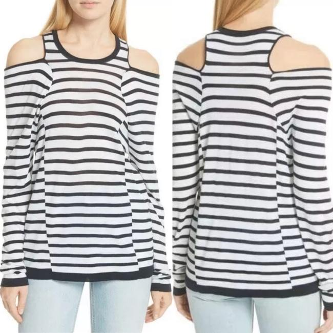 T by Alexander Wang T Shirt Navy/White Image 1