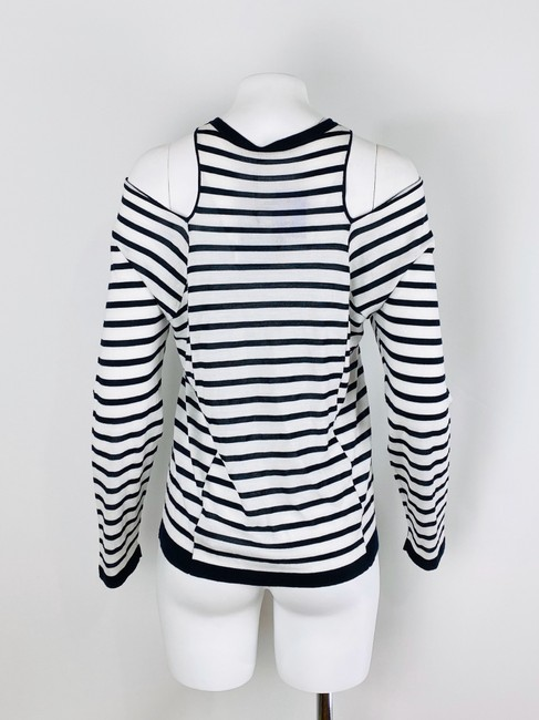 T by Alexander Wang T Shirt Navy/White Image 4