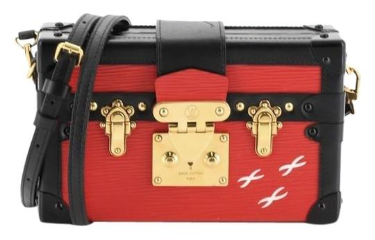 Louis Vuitton Petite Malle Epi Leather Black and Red Messenger Bag Image 0