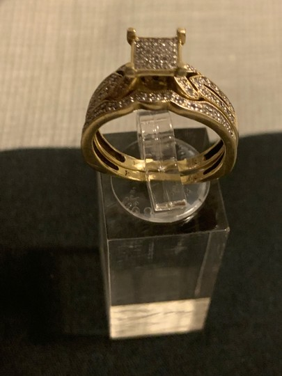 Zales 2pc 10k Gold Diamond Ring 0.30 Carats Image 3