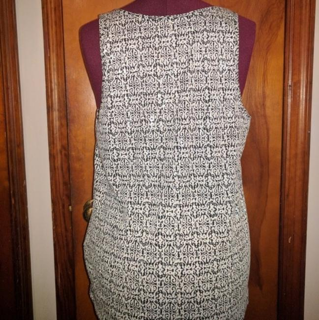 J. Crew Clear Sequin Top Black White Image 1