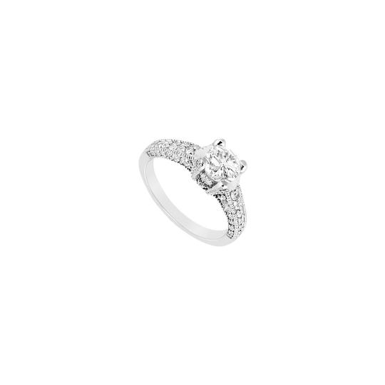 Marco B Engagement Ring of CZ in Milgrain 14K White Gold 1.50 Carat Total Image 0