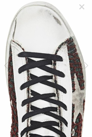 Golden Goose Deluxe Brand white, by bold cocco bordeaux Flats Image 4