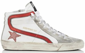 Golden Goose Deluxe Brand white, red Flats