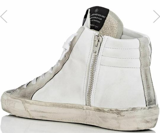 Golden Goose Deluxe Brand white, red Flats Image 1