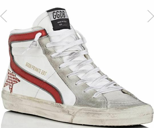 Golden Goose Deluxe Brand white, red Flats Image 2