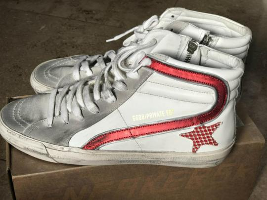 Golden Goose Deluxe Brand white, red Flats Image 3