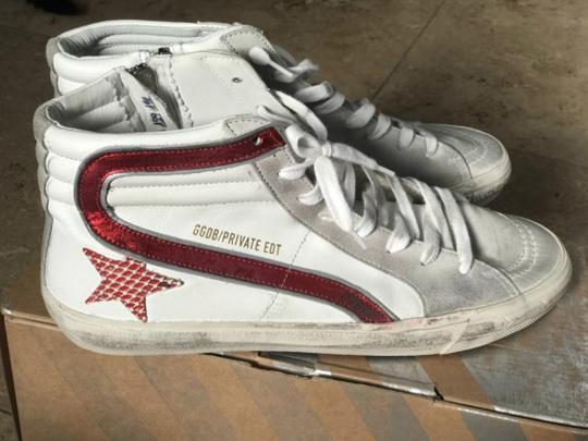 Golden Goose Deluxe Brand white, red Flats Image 4