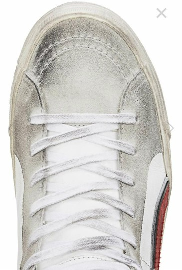 Golden Goose Deluxe Brand white, red Flats Image 5