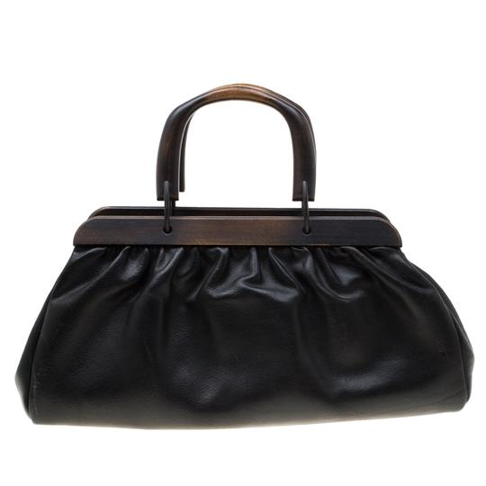 Gucci Leather Satchel in Black Image 1