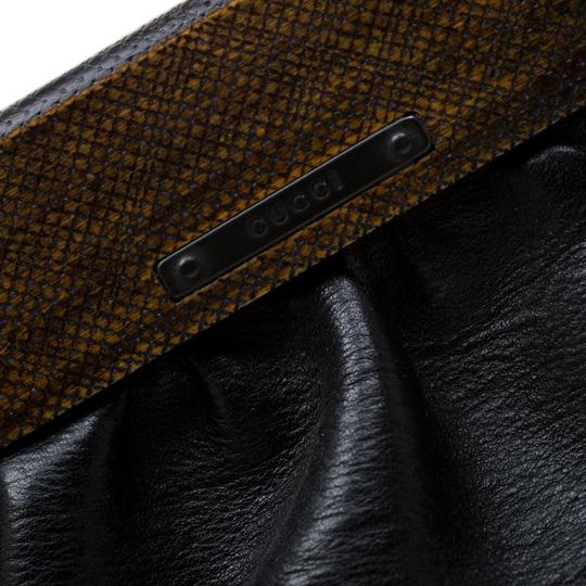 Gucci Leather Satchel in Black Image 10