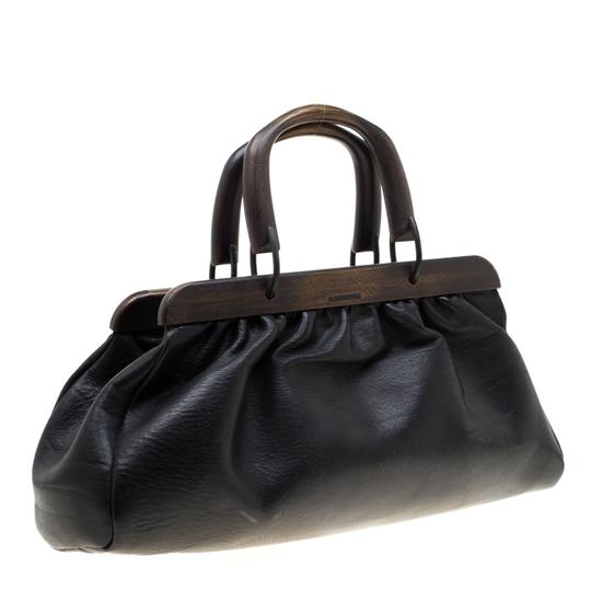 Gucci Leather Satchel in Black Image 3
