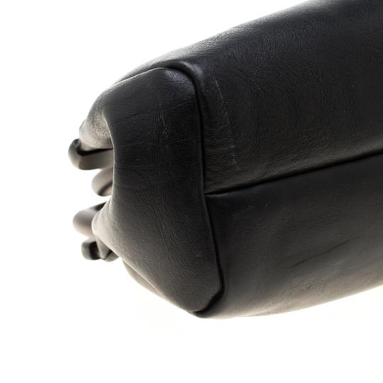 Gucci Leather Satchel in Black Image 6