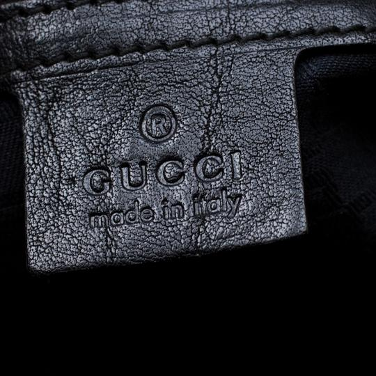 Gucci Leather Satchel in Black Image 9