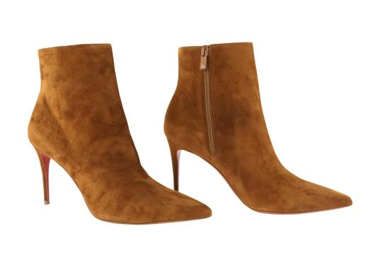 Christian Louboutin Suede Leather Brown Boots Image 1