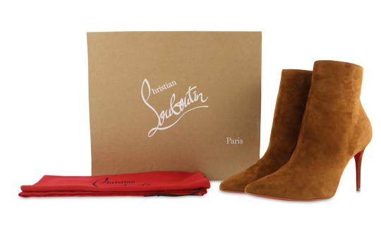 Christian Louboutin Suede Leather Brown Boots Image 11
