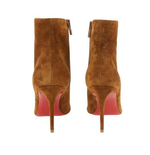 Christian Louboutin Suede Leather Brown Boots Image 3
