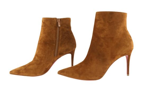 Christian Louboutin Suede Leather Brown Boots Image 4