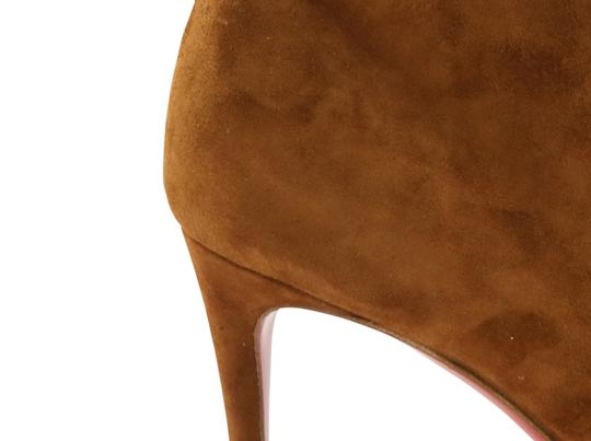 Christian Louboutin Suede Leather Brown Boots Image 7