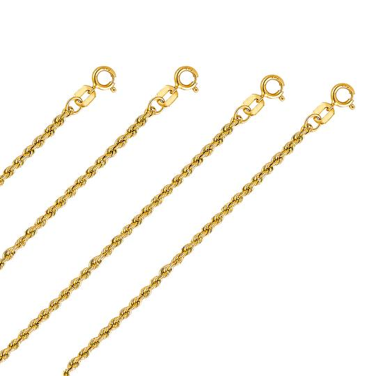 Top Gold & Diamond Jewelry 14K Yellow Gold 2.0mm Hollow Rope Regular Chain - 16