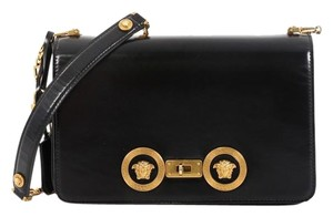 Versace Leather Medusa Padlock Satchel