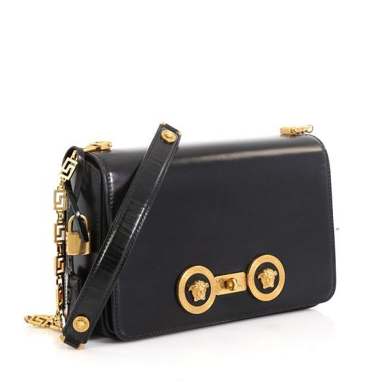 Versace Leather Medusa Padlock Satchel Image 2