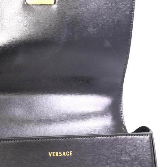 Versace Leather Medusa Padlock Satchel Image 6