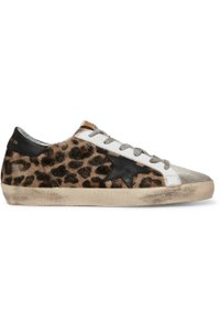 Golden Goose Deluxe Brand Sneakers Suede Superstar leopard, black Athletic