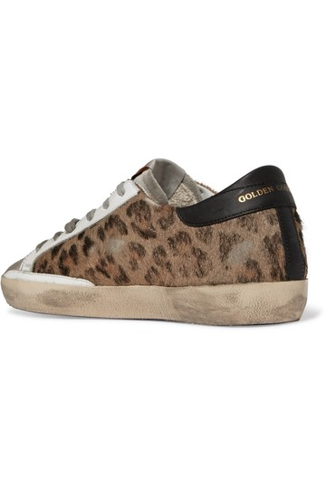 Golden Goose Deluxe Brand Sneakers Suede Superstar leopard, black Athletic Image 1