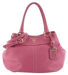 Prada Convertible Vitello Daino Medium Satchel in Pink