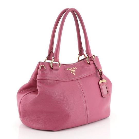 Prada Convertible Vitello Daino Medium Satchel in Pink Image 1