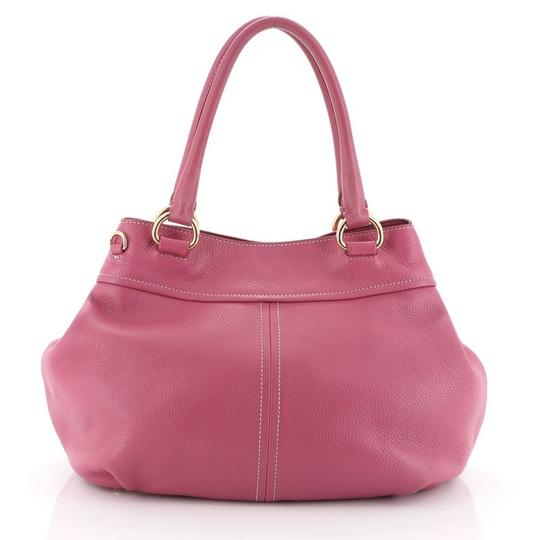 Prada Convertible Vitello Daino Medium Satchel in Pink Image 2