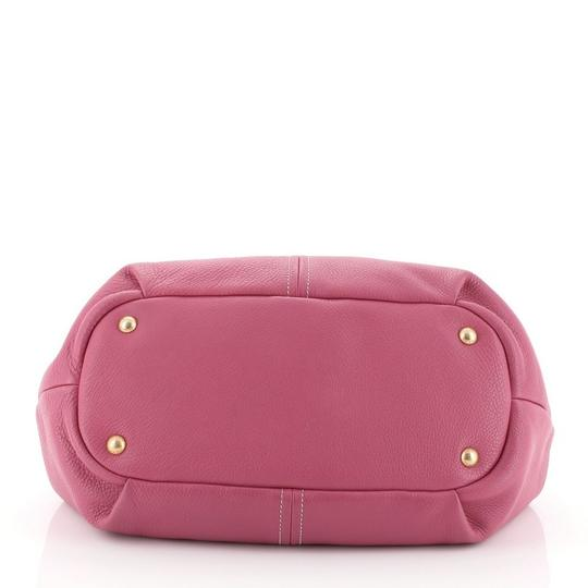 Prada Convertible Vitello Daino Medium Satchel in Pink Image 3