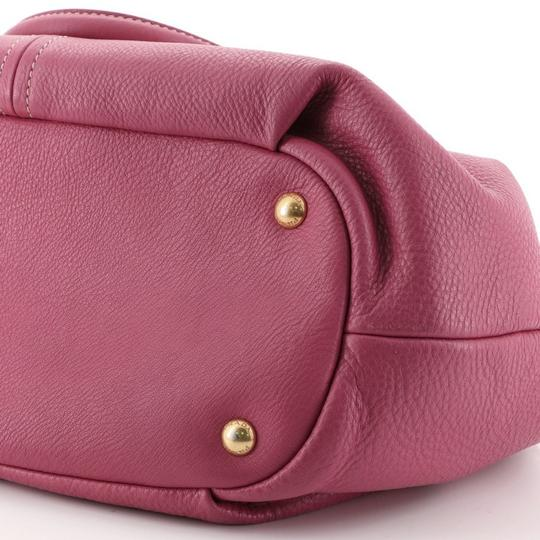 Prada Convertible Vitello Daino Medium Satchel in Pink Image 5