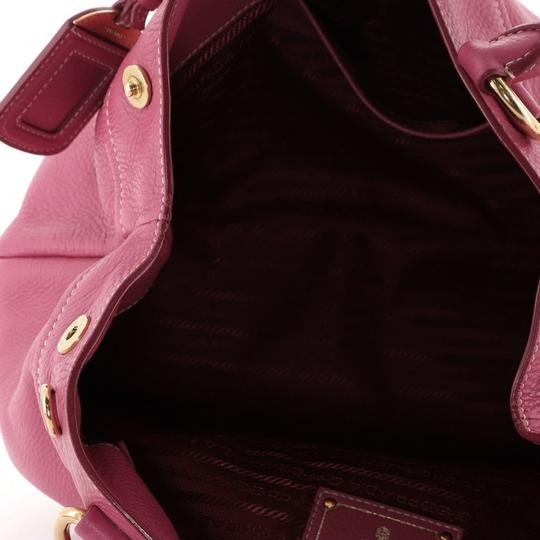 Prada Convertible Vitello Daino Medium Satchel in Pink Image 6