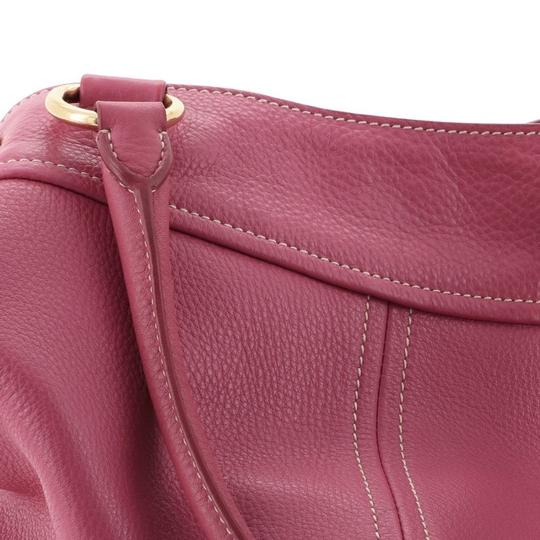 Prada Convertible Vitello Daino Medium Satchel in Pink Image 7