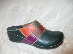 Spring Step Leather Ridgeview Onm001 dark green multi Mules