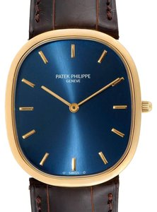 Patek Philippe Patek Philippe Golden Ellipse Yellow Gold Blue Dial Watch 3738 Papers