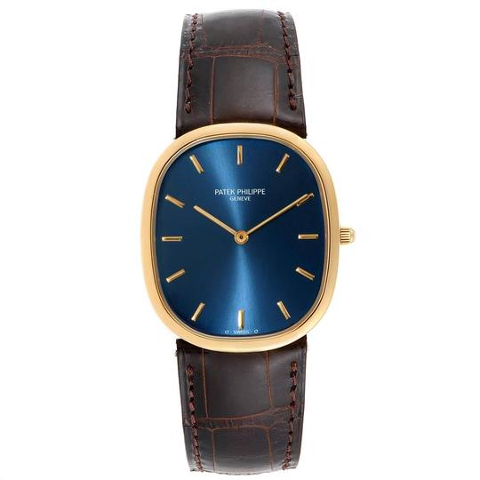 Patek Philippe Patek Philippe Golden Ellipse Yellow Gold Blue Dial Watch 3738 Papers Image 1