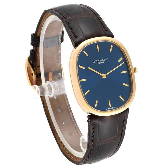 Patek Philippe Patek Philippe Golden Ellipse Yellow Gold Blue Dial Watch 3738 Papers Image 2