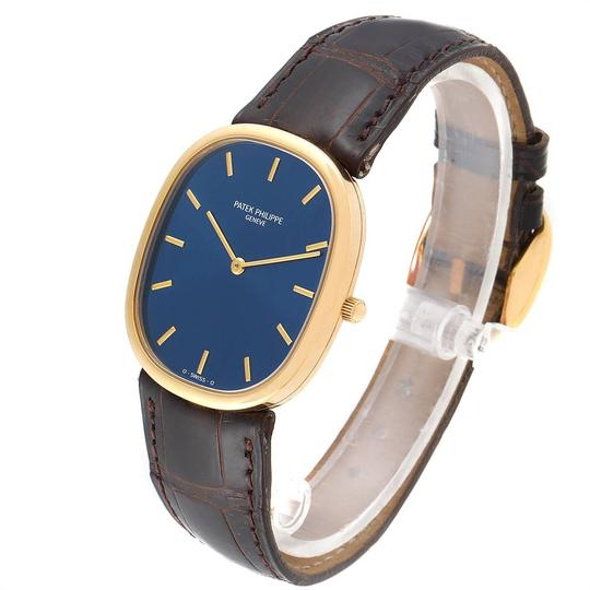 Patek Philippe Patek Philippe Golden Ellipse Yellow Gold Blue Dial Watch 3738 Papers Image 3